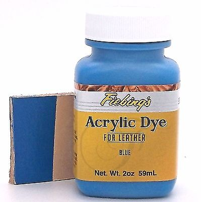 Fiebing's Acrylic Leather Dye Blue Paint 2 oz. (59mL) 2604-05 ACRD07P002Z