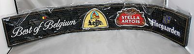 New Best of Belgium Bar Mat Spill Rail bar beer Hoegaarden Leffe Stella Artois