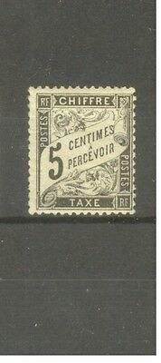 """FRANCE STAMP TIMBRE TAXE N° 14 """"TYPE DUVAL 5c NOIR"""" NEUF xx TB"""
