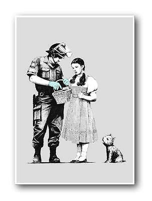 BANKSY Stop & Search-QUALITY Canvas Art Print Graffiti Poster wizard of Oz 12x8""