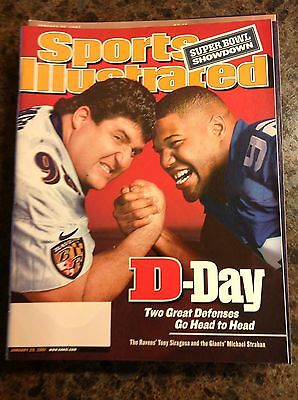 January 29 2001 Michael Strahan New York Giants Football Sports Illustrated OLD