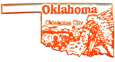Oklahoma Oklahoma City United States Fridge Magnet