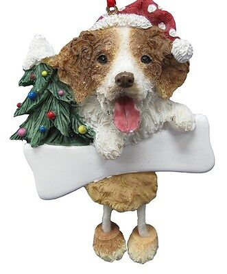 Brittany Spaniel  ~ Dangling Dog Ornament #58