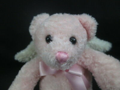 2006 Princess Soft Toys Pink Baby Girl White Angel Wings Plush Stuffed Animal