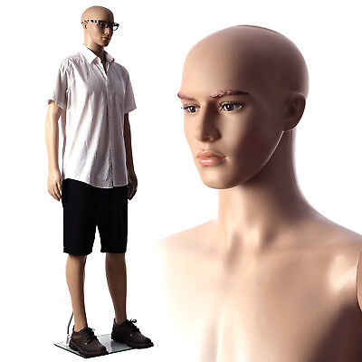 SONGMICS Natural copmplexion Full Body Male Mannequin with metal stand MPGM18
