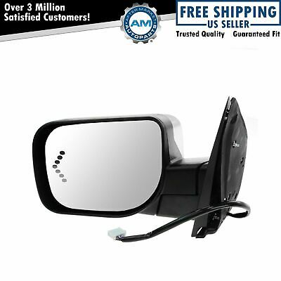 Mirror Power Folding Heated LED Signal Memory Puddle Light Chrome Right for Jeep