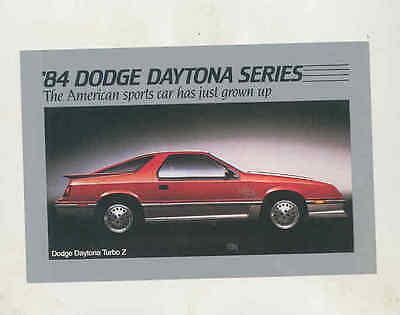 1984 Dodge Daytona Turbo Z Factory Postcard mx8256
