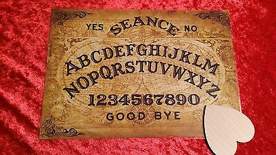 Old Globe Ouija Board laminated sheet + Planchette Fortune telling Halloween