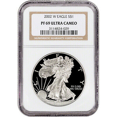 2002-W American Silver Eagle Proof - NGC PF69 UCAM