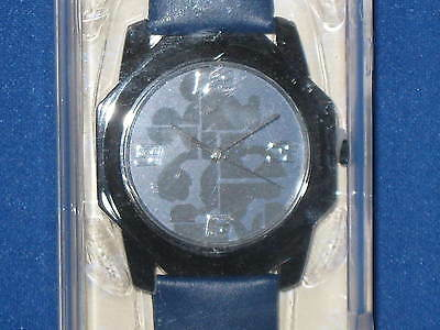 DISNEY PARKS Mickey Mouse Blue Silhouette WATCH leather type band - NEW