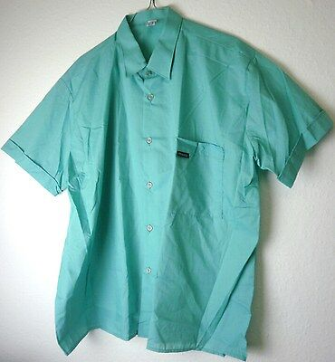 DDR Freizeithemd WELTON Cassic 80er TRUE VINTAGE Oberhemd 80s dress shirt green
