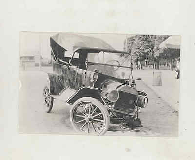 1914 Ford Model T Car Crash Real Photo Postcard mx8287