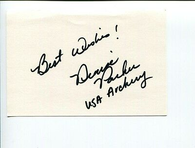 Denise Parker 1988 US Olympic Bronze Archer Medal Signed Autograph