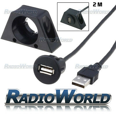 CT29AX08 Interior 2M USB 2.0 Flush Mount Socket Extension Cable / Lead Adapter