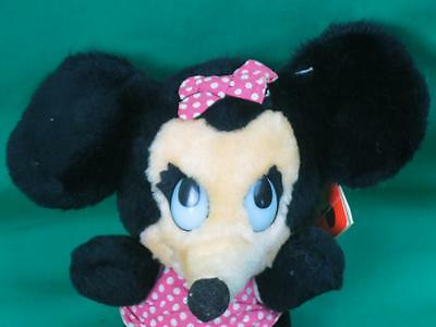NEW VINTAGE DISNEYLAND WALT DISNEY WORLD BEANBAG MINNIE MOUSE DAKIN PLUSH STUFFE