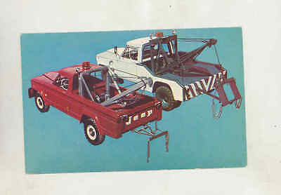1964 Jeep Wrecker Tow Truck Factory Postcard mx8500