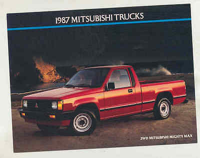1987 Mitsubishi Mighty Max Pickup Truck Large Factory Postcard mx8521