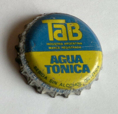 OLD VINTAGE RARE TAB TONIC WATER SODA BOTTLE CROWN CAP ARGENTINA