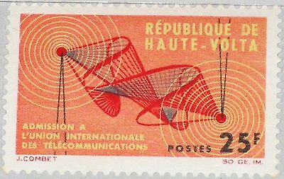 UPPER VOLTA OBERVOLTA 1964 142 129 Admission to ITU Sound Wave Patterns MNH