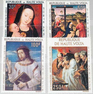 UPPER VOLTA OBERVOLTA 1967 222-25 ex C42-49 Paintings Gemälde Religion Art MNH