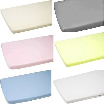 (Pack Of 2) Premium Quality Thick Cot Bed Fitted Sheets 70 X 140 Cm 100% Cotton.