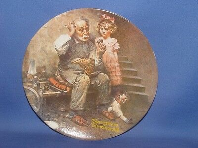 The Cobbler   Norman Rockwell  Plate  COA