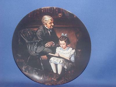 The Young Scholar Heritage Norman Rockwell  Plate  COA