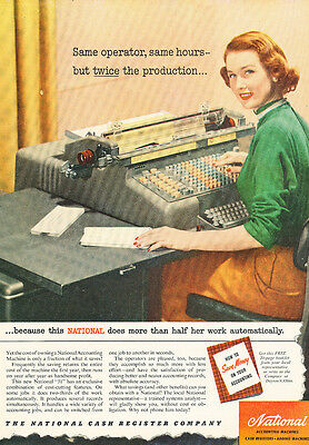 1951 NCR National Cash Register Accountung - Classic Advertisement Ad J109-C