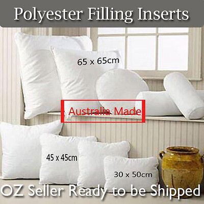 Aus Made Microfibre Filling Pillows-Cushion/European/rectangular Inserts