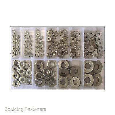 Assorted Metric A2 Stainless Steel Extra Thick Flat Spacer Washers