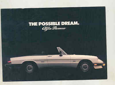 1986 Alfa Romeo Spider Veloce Large Factory Postcard mx8556