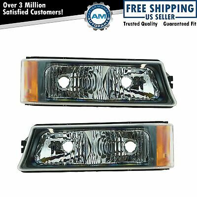 Corner Marker Parking Signal Light Pair for Chevy Silverado Avalanche Pickup