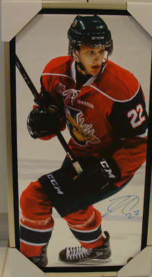 Halifax Mooseheads Nathan MacKinnon Signed NHL Autographed 14x28 Canvas Hockey