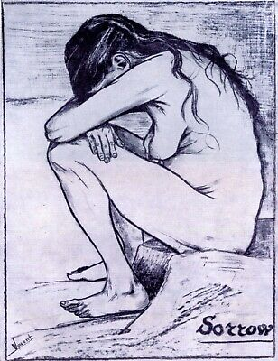 Sorrow by Vincent Van Gogh Giclee Fine Art Print Reproduction on Canvas