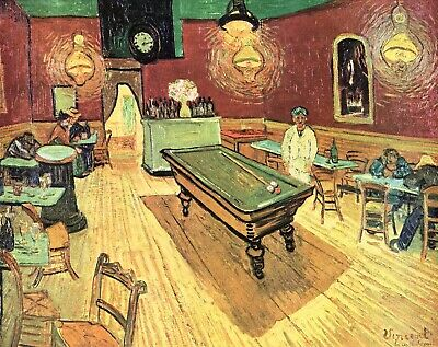 The Night Cafe on Place Lamartine in Arles by Vincent Van Gogh Repro on Canvas
