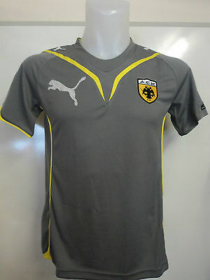 Aek Athens Grey Performance Tee By Puma Adults Size Small Brand New With Tags