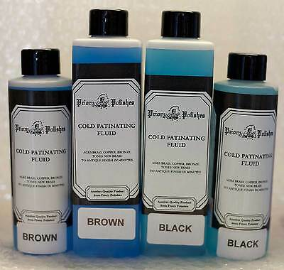 Antiquing Patination Fluid - Black - 150ml - Free 1st Class Postage