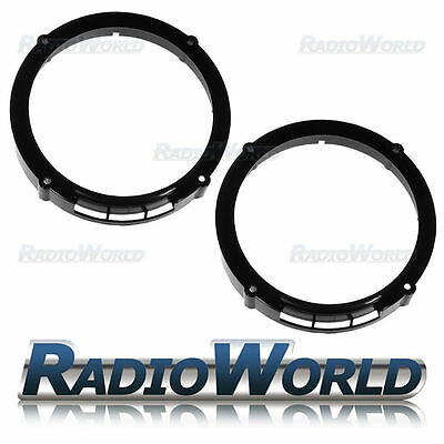 "Seat Ibiza MK2 02 to 2009 Speaker Adaptor Rings Front & Rear Doors 6.5"" 165mm"