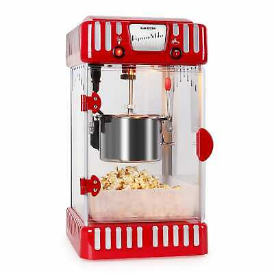 Machine Appareil A Popcorn Machine Automatique Retro Air Chaud 300W Inox Rouge