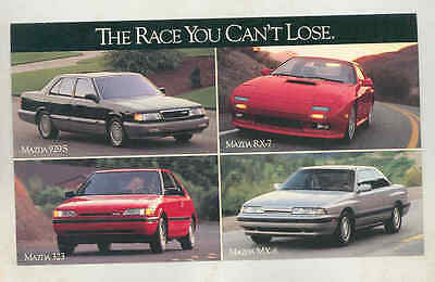 1990 Mazda 929S RX7 323 MX6 Large Factory Postcard mx8613