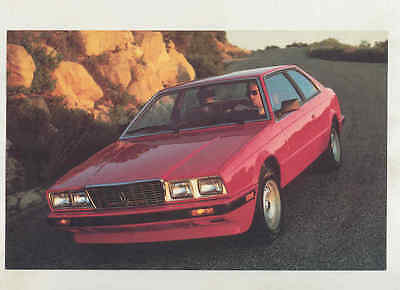 1984 1985 Maserati Biturbo Large Factory Postcard mx8674
