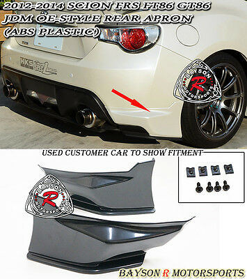OE-Style Rear Lip Aprons (ABS) Fits 12-16 Scion FR-S Toyota 86