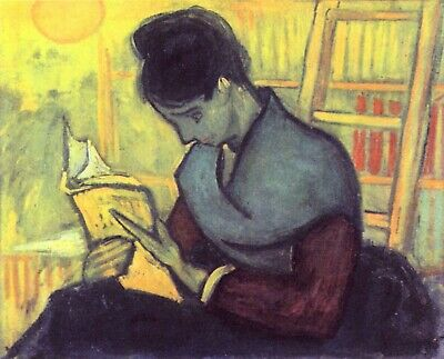 The novel reader by Vincent Van Gogh Giclee Fine Art Print Repro on Canvas