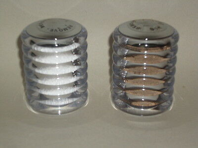 New Cole And Mason Salt And Pepper Shaker Set Acrylic With Silver Top