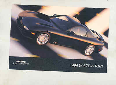 1994 Mazda RX7 Large Factory Postcard mx8693