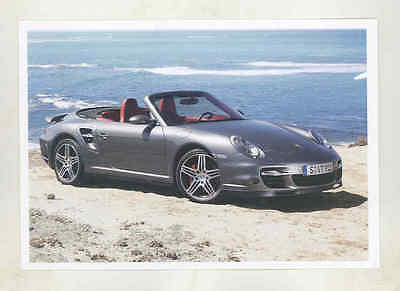 2006 2007 2008 ? Porsche 997 911 Turbo Cabriolet Large Factory Postcard mx8805