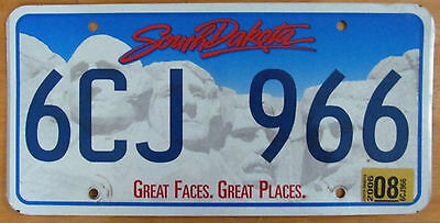 South Dakota 2006 BROOKINGS COUNTY License Plate NATURAL # 6CJ 966