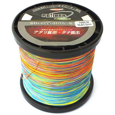 Pefiber 8 Strand Braid Fishing Line 50Lb 1000M 5 Colour Jigging 100% Uhmwpe