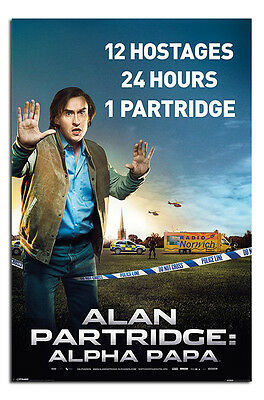 Alan Partridge Alpha Papa One Sheet Style Poster New - Laminated Available