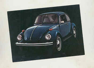 1973 Volkswagen Super Beetle Factory Postcard mx8901